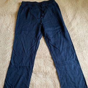 Navy Blue Pajama Bottoms